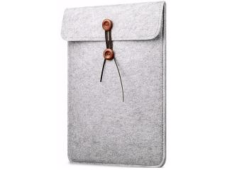"""Button Filzhülle für MacBook 12"""" und Air 11"""" Sleeve Pouch Tasche Grau"""