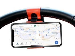 Auto Lenkrad Halterung für iPhone und Smartphones im Auto am Lenkrad