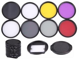 GoPro 52mm 8-Fach Farb-Filter Set mit Adapter für GoPro Hero Kameras