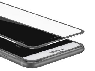 3D Panzerglas + Aluminium Frame für iPhone 7 Plus Glasfolie - schwarz