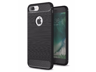 iPhone 7 Plus Carbon Gummi Hülle Thin TPU Case Cover flexibel stabil