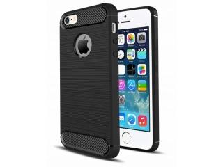 iPhone SE / 5S Carbon Gummi Hülle Thin TPU Case Cover flexibel stabil