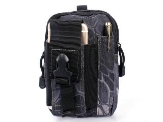 Outdoor Handy Hüfttasche Gürteltasche Smartphone iPhone Python schwarz