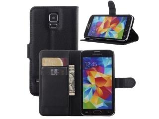 Ledertasche für Samsung Galaxy S5 Portemonnaie & Karten Hülle Flipcase
