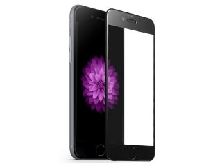 iPhone 7/8 iVisor HD Panzerglas 100% Bildschirmabdeckung Frame schwarz