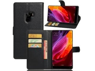 """Ledertasche für Xiaomi Mi Mix 6.4"""" Portemonnaie & Karten Hülle schwarz"""