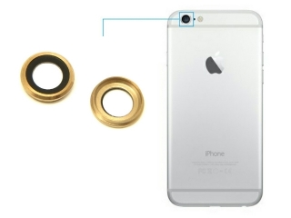 iPhone 6S Plus Kamera Glas Linsen Ring Camera Lens Cover - gold
