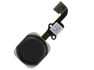 iPhone 6 Plus Home Button Flexkabel + Home Knopf + Gummiring - schwarz
