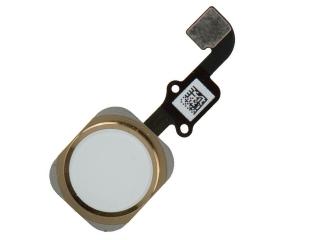 iPhone 6 Plus Home Button Flexkabel + Home Knopf + Gummiring - gold