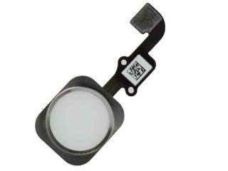 iPhone 6S Plus Home Button Flexkabel + Home Knopf Gummiring - silber