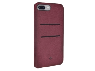 Twelve South Relaxed Leather iPhone 8 Plus Leder Case + Karten marsala
