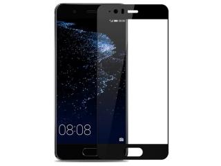Huawei P10 100% Vollbild Panzerglas Schutzfolie 0.23mm 2.5D schwarz