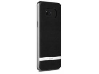 Moshi Napa Galaxy S8+ Premium Kunstlederhülle & Hardcase Inlay schwarz