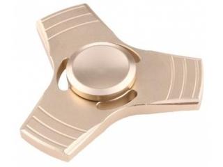 Fidget Spinner 3-Wing Aluminium Anti-Stress 3-Flügel Spinner gold