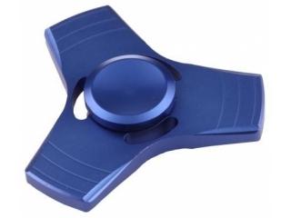 Fidget Spinner 3-Wing Aluminium Anti-Stress 3-Flügel Spinner blau