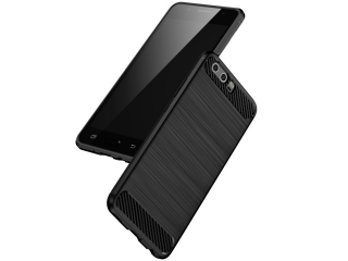 Huawei P10 Carbon Gummi Hülle TPU Case Cover flexibel