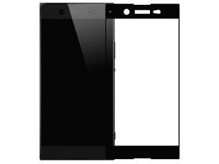 Sony Xperia XA1 100% Vollbild Panzerglas Schutzfolie 0.23mm schwarz