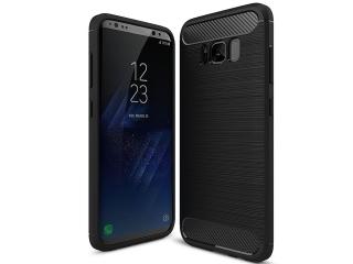 Samsung Galaxy S8+ TPU Carbon Flex Gummi Hülle Thin Softcase - schwarz