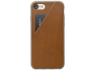 Native Union Clic Card iPhone SE Hardcase mit Kreditkartenfach braun