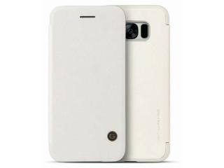 G-Case Samsung Galaxy S8+ Ledertasche Business Flipcover Case - weiss