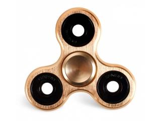 Premium Fidget Spinner aus massivem Aluminium & Stahl gefräst gold