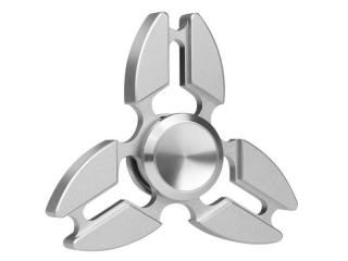 Premium Fidget Spinner Crab Design aus Aluminium & Stahl - silber
