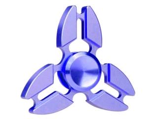 Premium Fidget Spinner Crab Design aus Aluminium & Stahl - blau