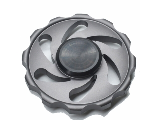 Cyclone Storm Premium Fidget Spinner aus Aluminium - titan grau