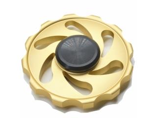 Cyclone Storm Premium Fidget Spinner aus Aluminium - gold
