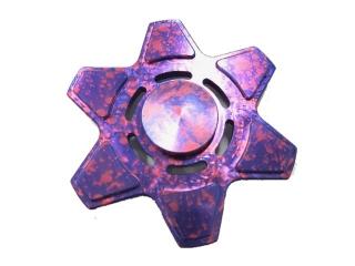 Rotor Fidget Spinner Aluminium oxidiert mit Splash Effekt - purple