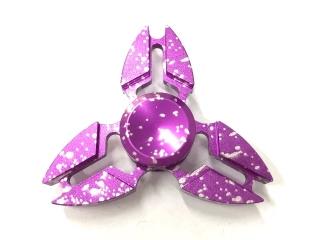 Premium Fidget Spinner Crab Design Aluminium & Stahl - purple splash