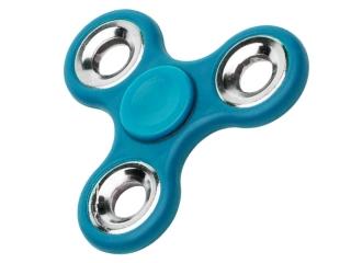 Fidget Spinner Hand Spinner Stahl Kugellager & Gewicht Chrom - blau