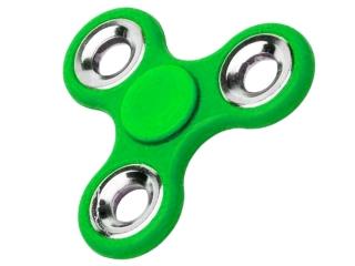 Fidget Spinner Hand Spinner Stahl Kugellager & Gewicht Chrom - grün