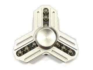 Fidget Spinner Tri-Star Aluminium mit 9 Stahlkugeln - silber