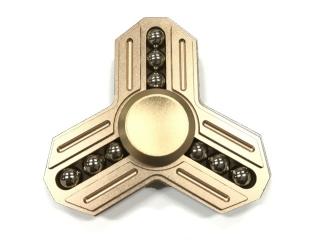 Fidget Spinner Tri-Star Aluminium mit 9 Stahlkugeln - gold