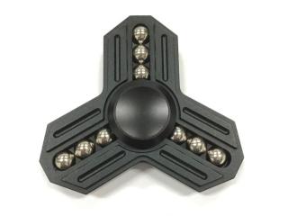 Fidget Spinner Tri-Star Aluminium mit 9 Stahlkugeln - schwarz