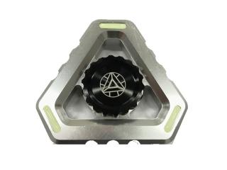 Fidget Spinner Alien Sky Aluminium mit Night Light - silber