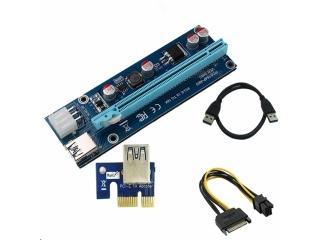 PCI-E Express Riser Card 1x to 16x USB 3.0 60cm SATA Ethereum Mining
