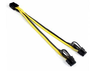 Grafikkarten Power Kabel - 6pin auf 2x 8pin Stromversorgungskabel