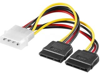 4-Pin IDE Molex auf 2x 15-Pin SATA Power Kabel Adapter für PC SATA HD