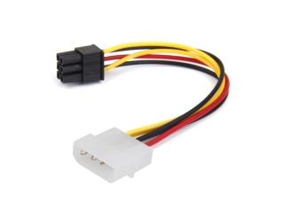 4-Pin IDE Molex auf 6-Pin Grafikkarten Strom Kabel Power Adapter