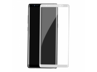 Samsung Galaxy Note 8 3D Displayschutzglas mit 100% Abdeckung - weiss