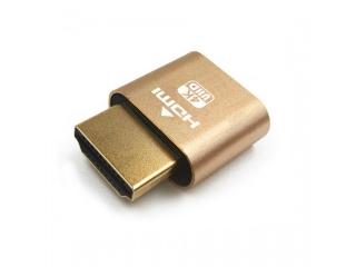HDMI Dummy Adapter Headless Ghost Display Emulator Dummy Plug 4K Gold