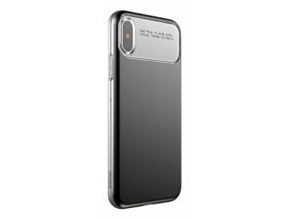 Baseus iPhone X/Xs Slim Lotus Case mit Soft TPU Frame in schwarz