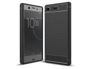 Sony Xperia XZ1 Compact Carbon Gummi Hülle TPU Case Cover flexibel
