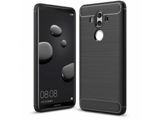 Huawei Mate 10 Pro Carbon Gummi Hülle TPU Case Cover flexibel schwarz