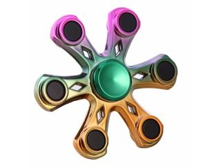 Fidget Spinner Six Star Flower - 6 Sternen Blume - Rainbow