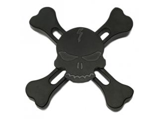Fidget Spinner Skull and Bones Totenkopf Spinner - schwarz