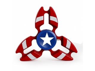 Premium Fidget Spinner Crab Design Captain America aus Aluminium