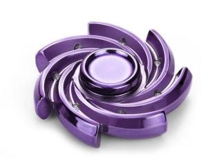 Windmill Premium Fidget Spinner aus schwerem Stahl - purple chrom